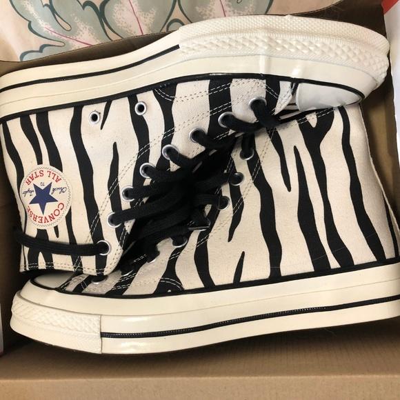 chuck 70 archive print high top zebra